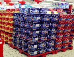 趣园食品—年华曲奇饼干超市专柜展示