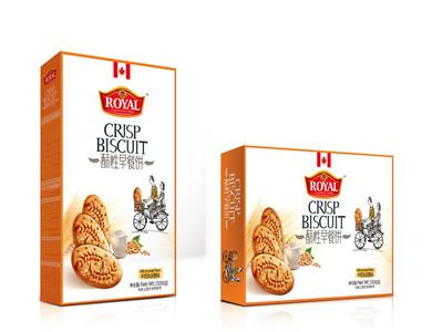 休闲零食品牛奶谷物味酥性早餐饼168克