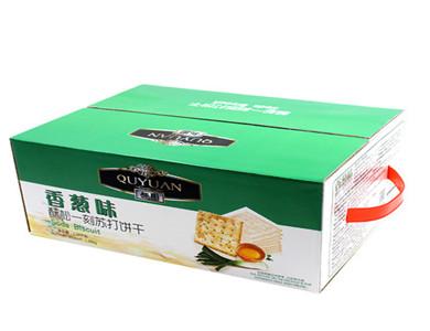趣园1280克苏打饼干(香葱味)实惠家庭装饼干OEM招代理商