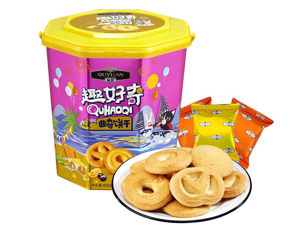 趣园胶罐曲奇礼盒厂家直销  曲奇饼干代加工生产厂家 年货礼盒批发