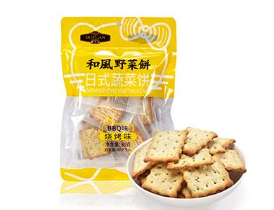 趣园80g日式烧烤味蔬菜饼干