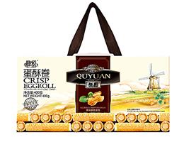 【趣悦】香酥奶油味蛋酥卷400g礼盒装