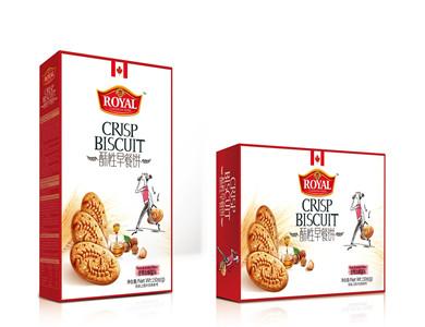 趣园坚果蜂蜜味酥性早餐饼168克厂家直销