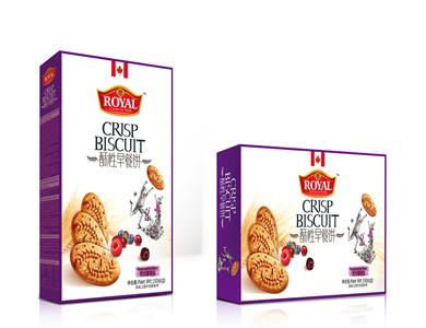 趣园 整箱混合莓果味酥性早餐饼168克