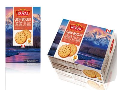 加拿大皇家蜂蜜味脆脆饼230克(美味与家人一起分享)
