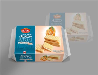加拿大皇家香橙味梳打夹心饼干270克