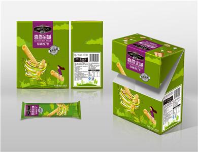 趣园饼干厂家直销香葱味手工蛋卷480克优质原料无添加