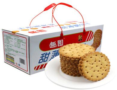 趣园甜薄脆饼干芝麻味1400克超值家庭装礼盒装