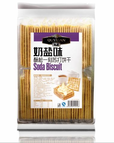 趣园奶盐味苏打饼干420g休闲零食饼干 酥松一刻