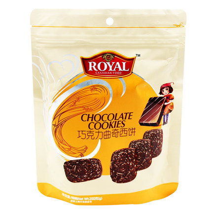 趣园200克巧克力曲奇饼干 整箱批发