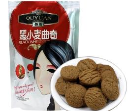 【趣园】黑小麦曲奇100g休闲零食袋装
