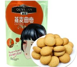 【趣园】燕麦曲奇饼干 100g休闲袋装