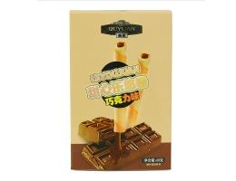 广州特产酥脆注心蛋卷巧克力味60克休闲食品饼干厂家批发OEM