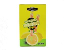 广东注心蛋卷厂家柠檬味60克休闲零食饼干厂家批发OEM