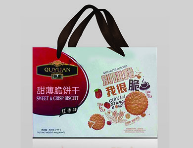 趣园甜薄脆饼干红枣味800克家庭装礼盒装
