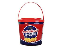 年货礼盒装趣园休闲亚博vip500克什锦亚博vip手提胶桶装