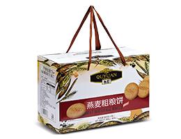 趣园燕麦粗粮饼酥性饼干800g礼盒家庭装