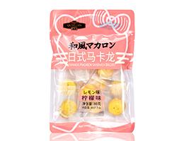 80g柠檬味马卡龙夹心饼干